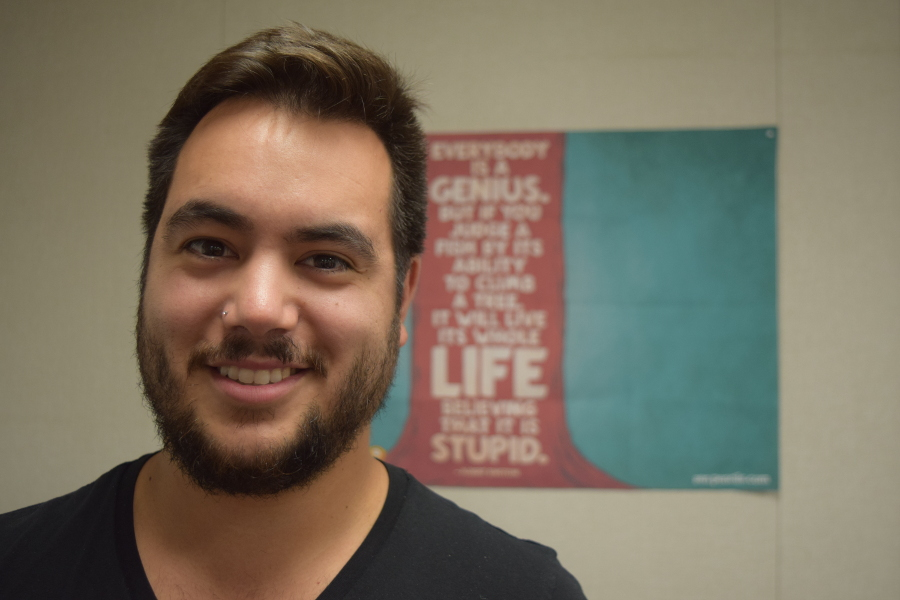Mr. Flores is a newly hired English teacher.