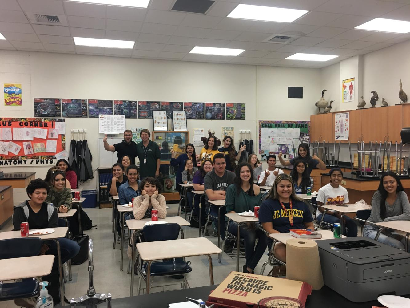 Featured Students and Teachers on September 13th at the College Panel in Mrs. Fajardo's class.