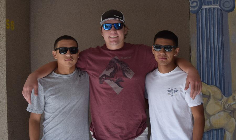 Aaron+Calderon%2C+Scotty+Crist%2C+and+Andre+Castillo+are+friends+off+the+field.