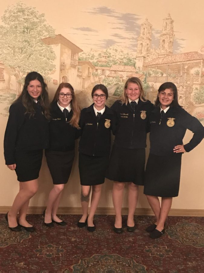 RCD Speech Participants: (Right to Left) Ally Watkins (2nd place), Daelyn Vaca, Cassiana Rolicheck (3rd place), Siana Barrett (1st place), Lizbeth Espinosa
