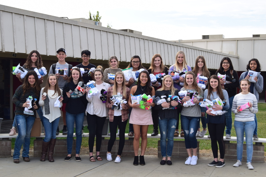 Interact Club carries on the tradition of Soctober Drive, collecting socks for the homeless.