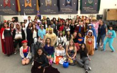 Band Participates in Elementary School Halloween Parade