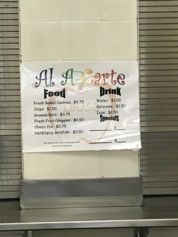 Prices Increase at Snack Bar