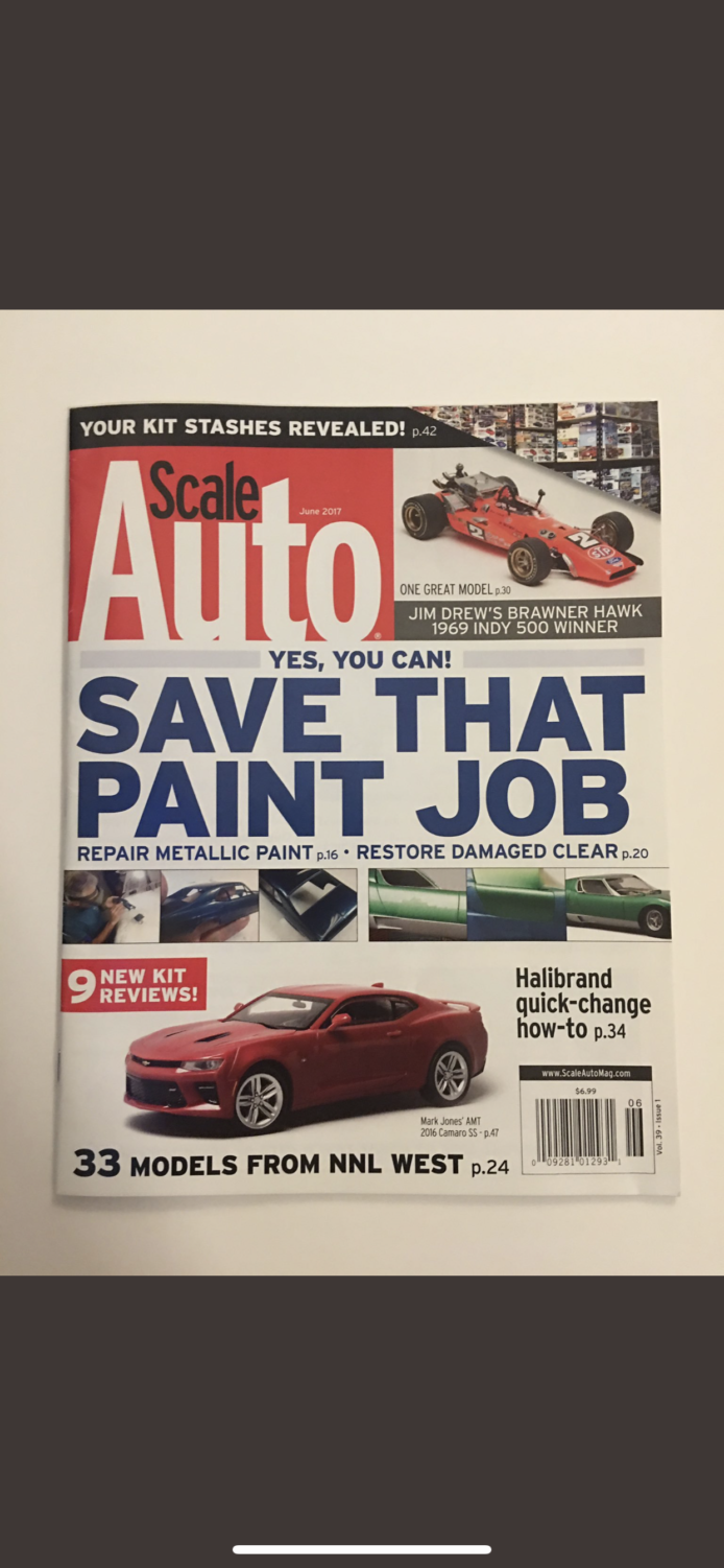 Tyler's car was featured in this magazine.