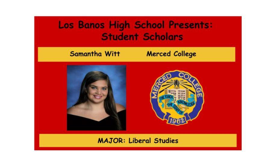 Admission Accomplished:  Samantha Witt