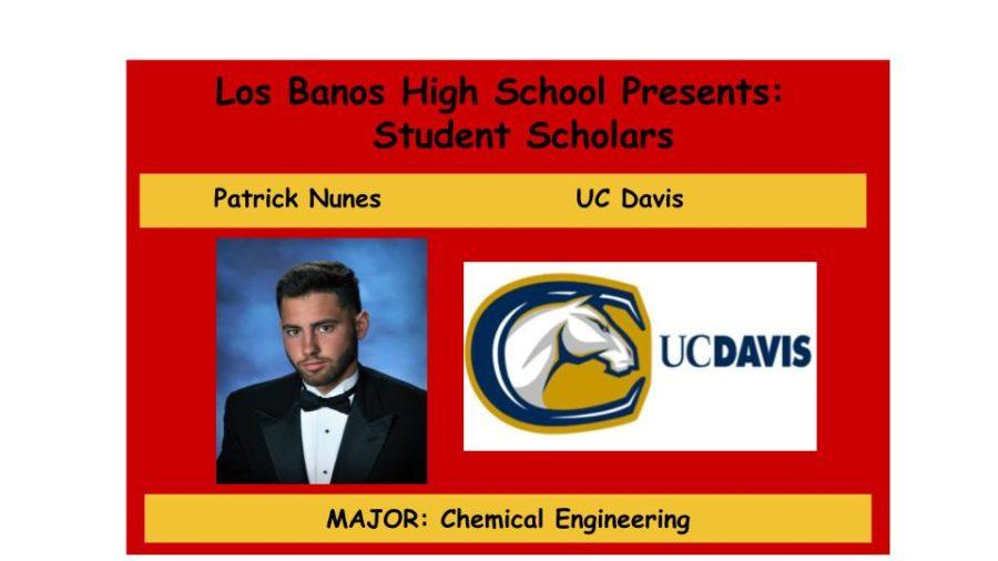 Admission Accomplished:  Patrick Nunes
