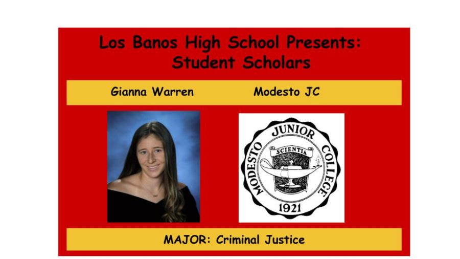 Admission Accomplished:  Gianna Warren