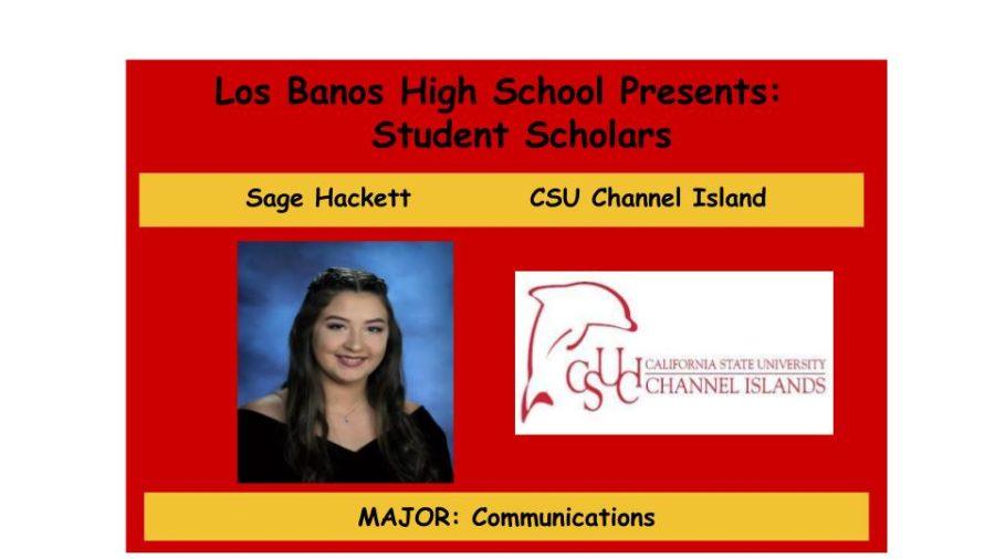 Admission Accomplished:  Sage Hackett