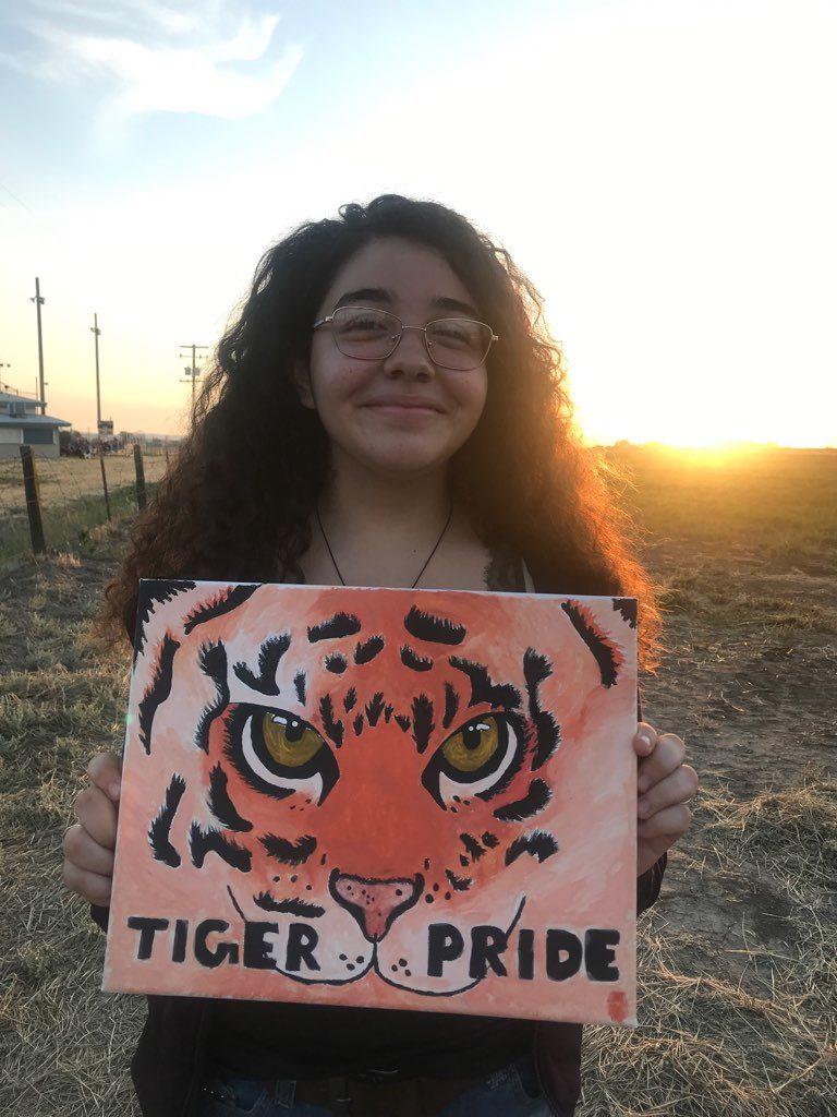 Liz Cornejo tiger painting