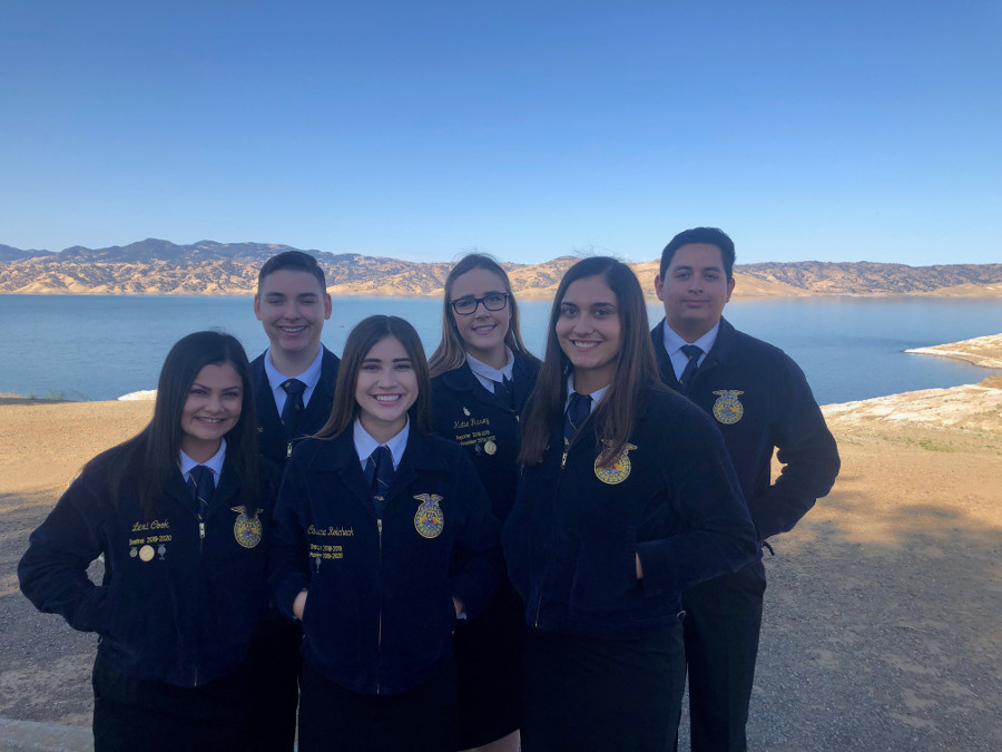 The FFA officers prepare for a new school year.
