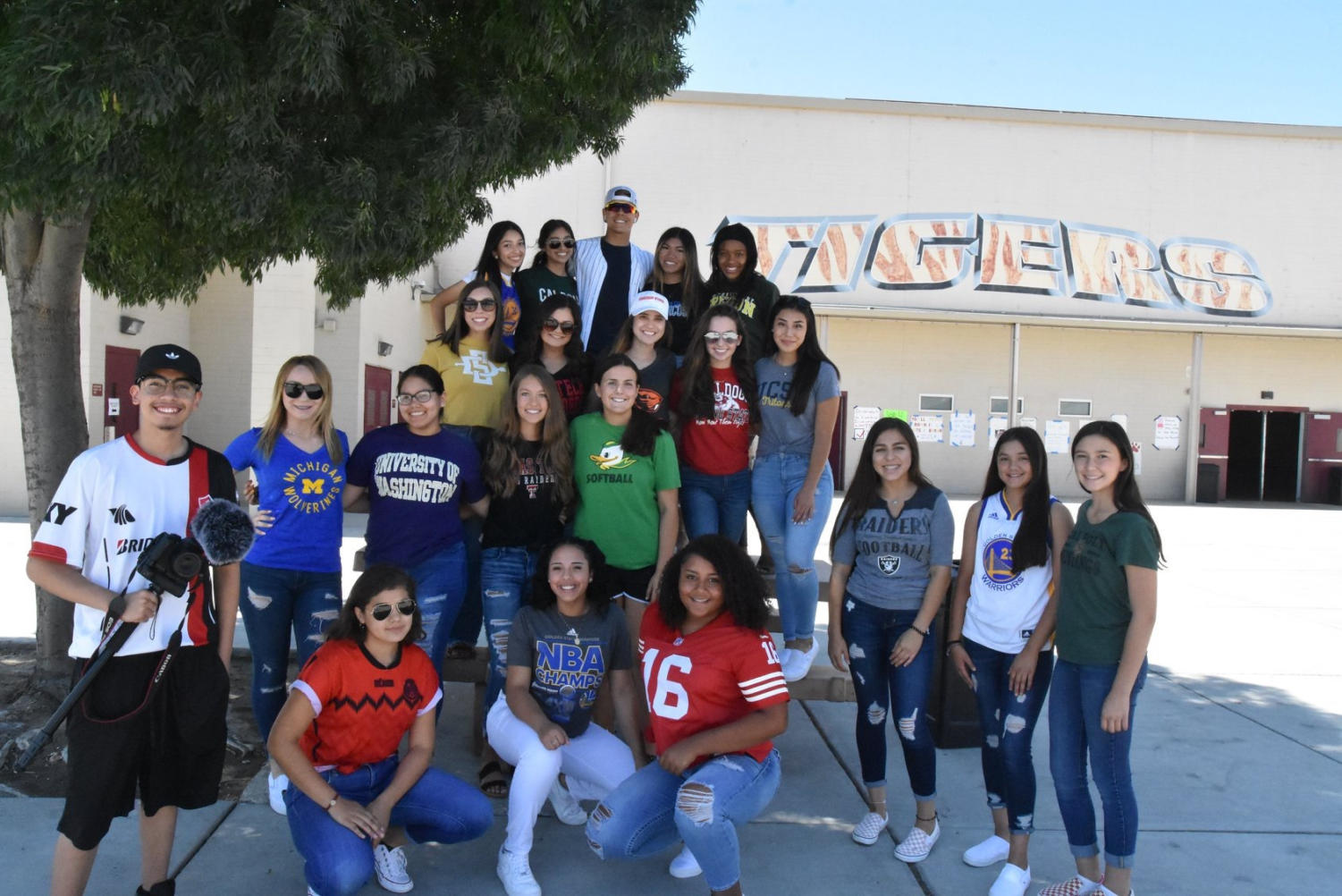 ASB members organize school events and show Tiger Pride.