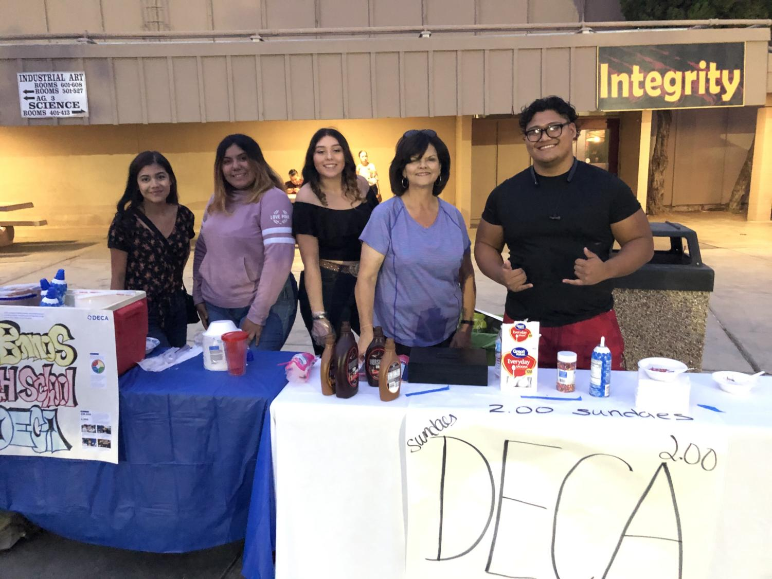 DECA club sells ice cream during the festival.