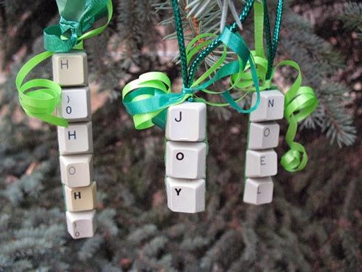 Keyboard Christmas Ornament
