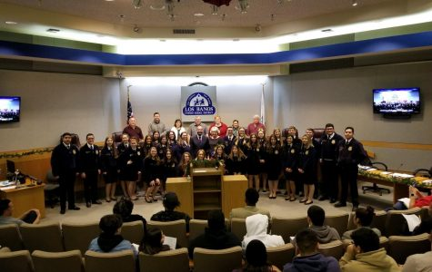FFA students attended the award ceremony at the city council meeting to honor Mrs. Falaschi.