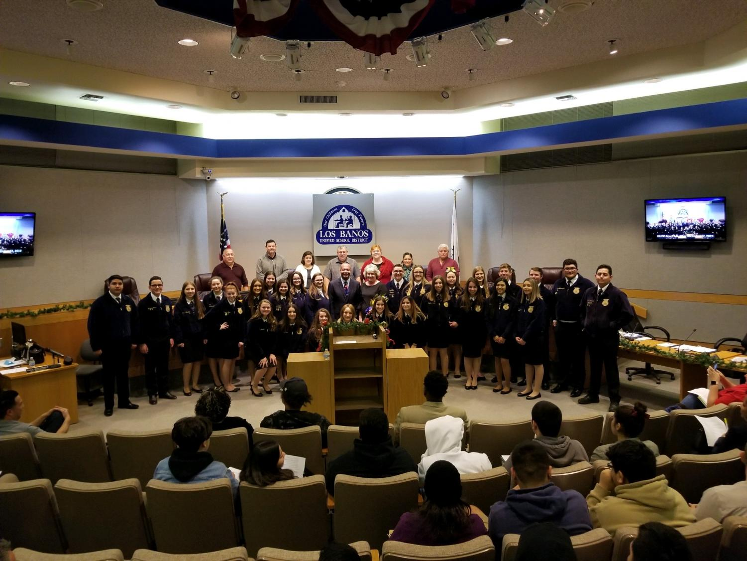 FFA+students+attended+the+award+ceremony+at+the+city+council+meeting+to+honor+Mrs.+Falaschi.