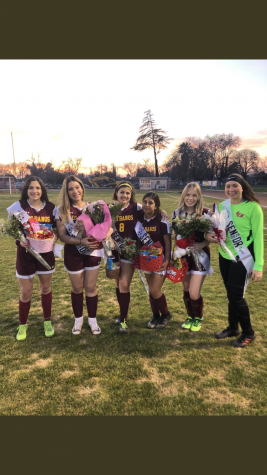 Soccer girls Senior Night