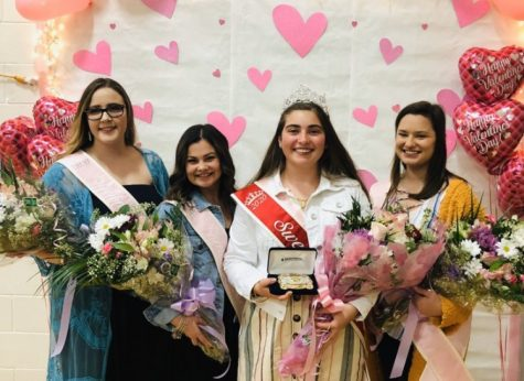 Sweetheart Canidates in order from left to right. Katie Rasey, Lexi Cook, Jocelyn Vierra, Brynn Wilkin
