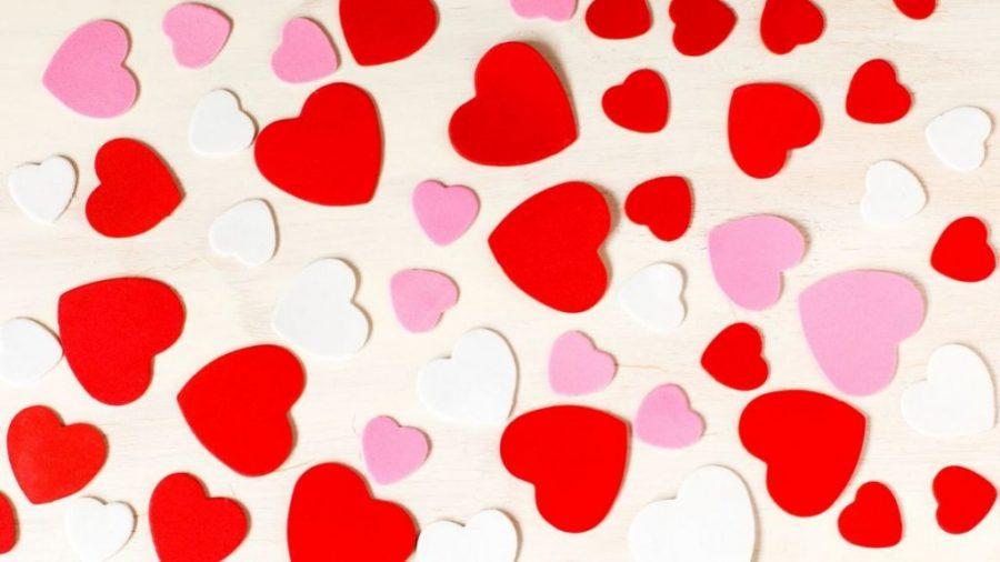 A+Valentine%27s+Day+heart+background+