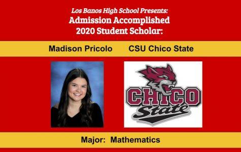 Admission Accomplished:  2020 Graduate Madison Pricolo