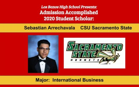 Admission Accomplished:  2020 Graduate Sebastian Arrechavala