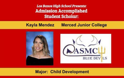 Admission Accomplished:  2020 Graduate Kayla Mendez