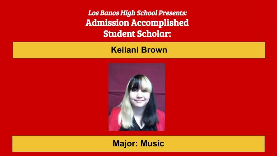 Admission Accomplished:  2020 Graduate Keilani Brown