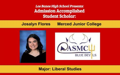 Admission Accomplished:  2020 Graduate Josalyn Flores