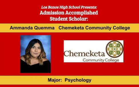 Admission Accomplished:  2020 Graduate Ammanda Quemma