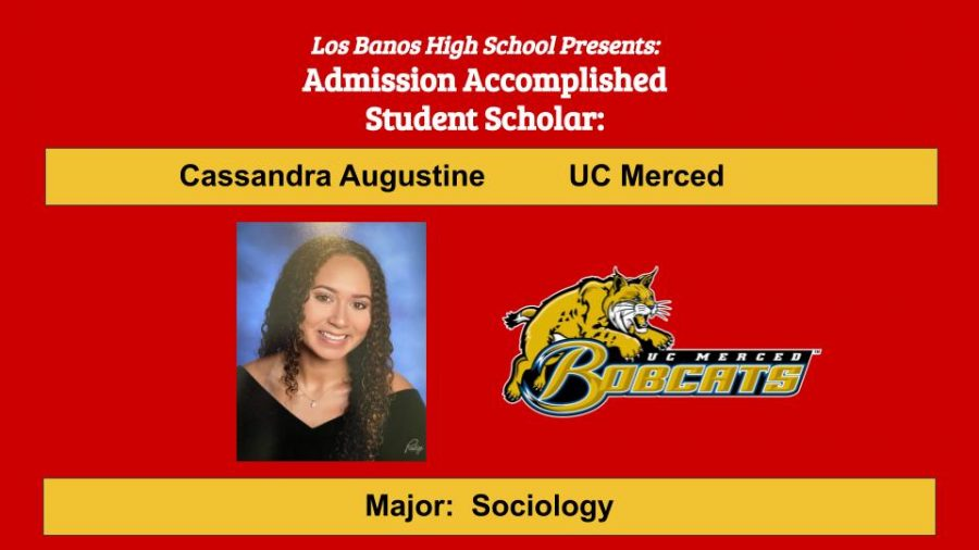 Admission Accomplished:  2020 Graduate Cassandra Augustine