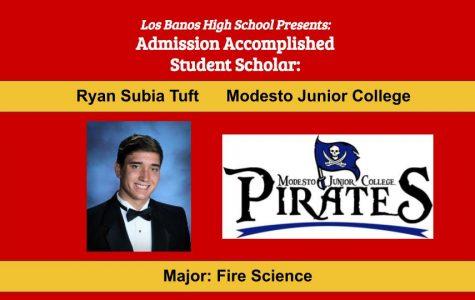 Admission Accomplished:  2020 Graduate Ryan Subia Tuft