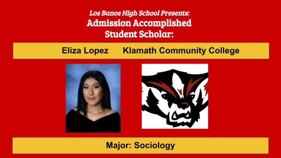 Admission Accomplished:  2020 Graduate Eliza Lopez