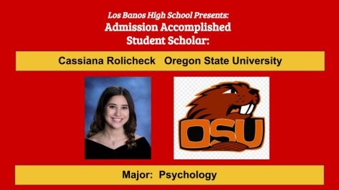 Admission Accomplished:  2020 Graduate Cassiana Rolicheck
