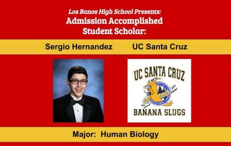 Admission Accomplished:  2020 Graduate Sergio Hernandez