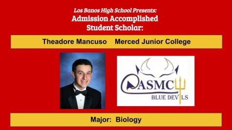 Admission Accomplished:  2020 Graduate Theadore Mancuso