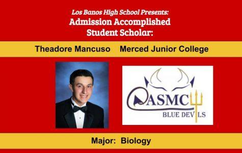 Admission Accomplished:  2020 Graduate Theadore Mancuso