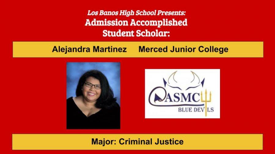 Admission Accomplished:  2020 Graduate Alejandra Martinez