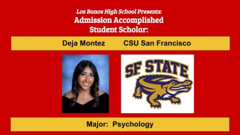 Admission Accomplished:  2020 Graduate Deja Montez