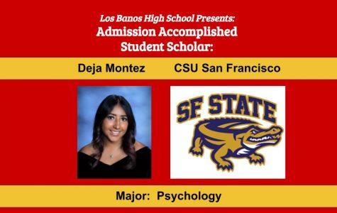 Admission Accomplished:  2020 Graduate Deja Montez