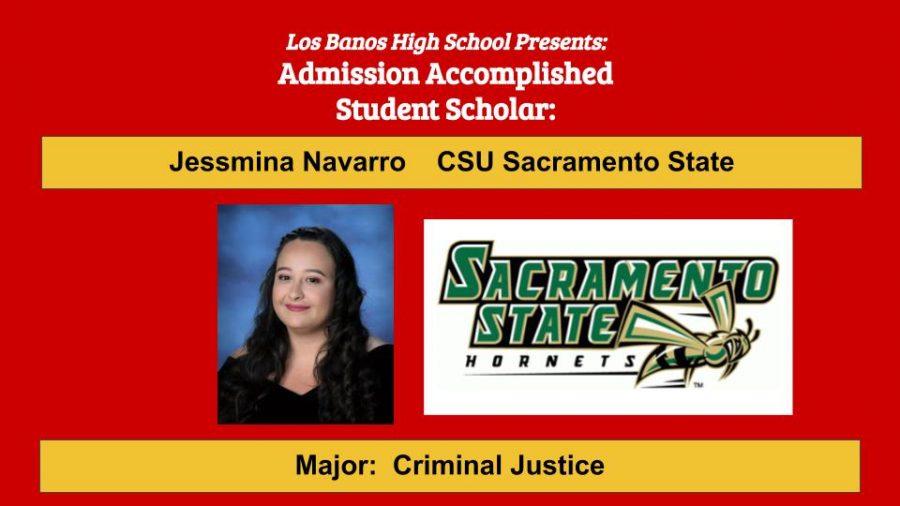 Admission Accomplished:  2020 Graduate Jessmina Navarro