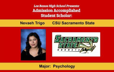 Admission Accomplished:  2020 Graduate Nevaeh Trigo