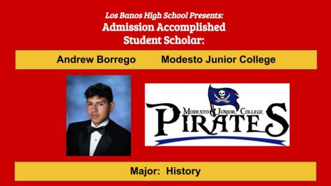 Admission Accomplished:  2020 Graduate Andrew James Borrego
