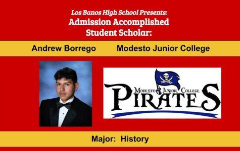 Admission Accomplished:  2020 Graduate Andrew James Borrego