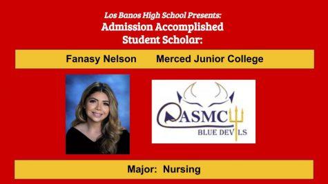 Admission Accomplished:  2020 Graduate Fanasy Nelson