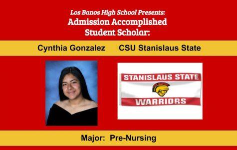 Admission Accomplished:  2020 Graduate Cynthia Gonzalez