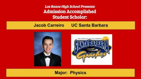 Admission Accomplished:  2020 Graduate Jacob Carreiro