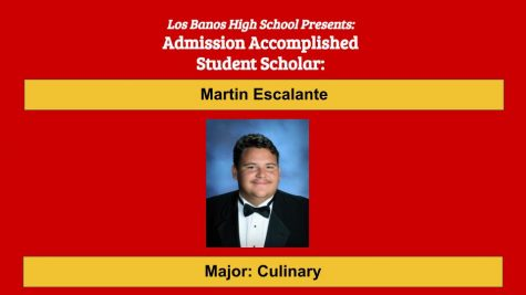 Admission Accomplished:  2020 Graduate Martin Escalante
