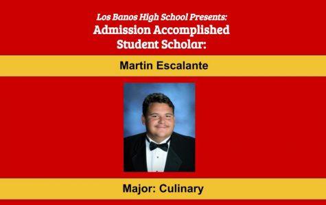 Admission Accomplished:  2020 Graduate Martin Escalante