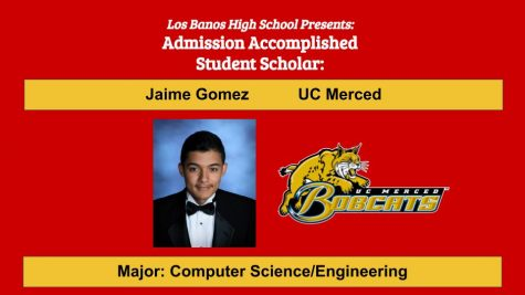 Admission Accomplished:  2020 Graduate Jaime Gomez