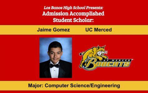 Admission Accomplished:  2020 Graduate Jaime Gomez