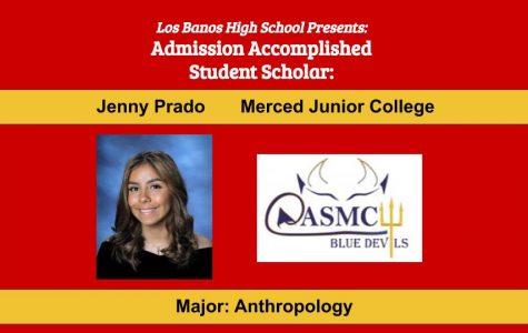 Admission Accomplished:  2020 Graduate Jenny Prado